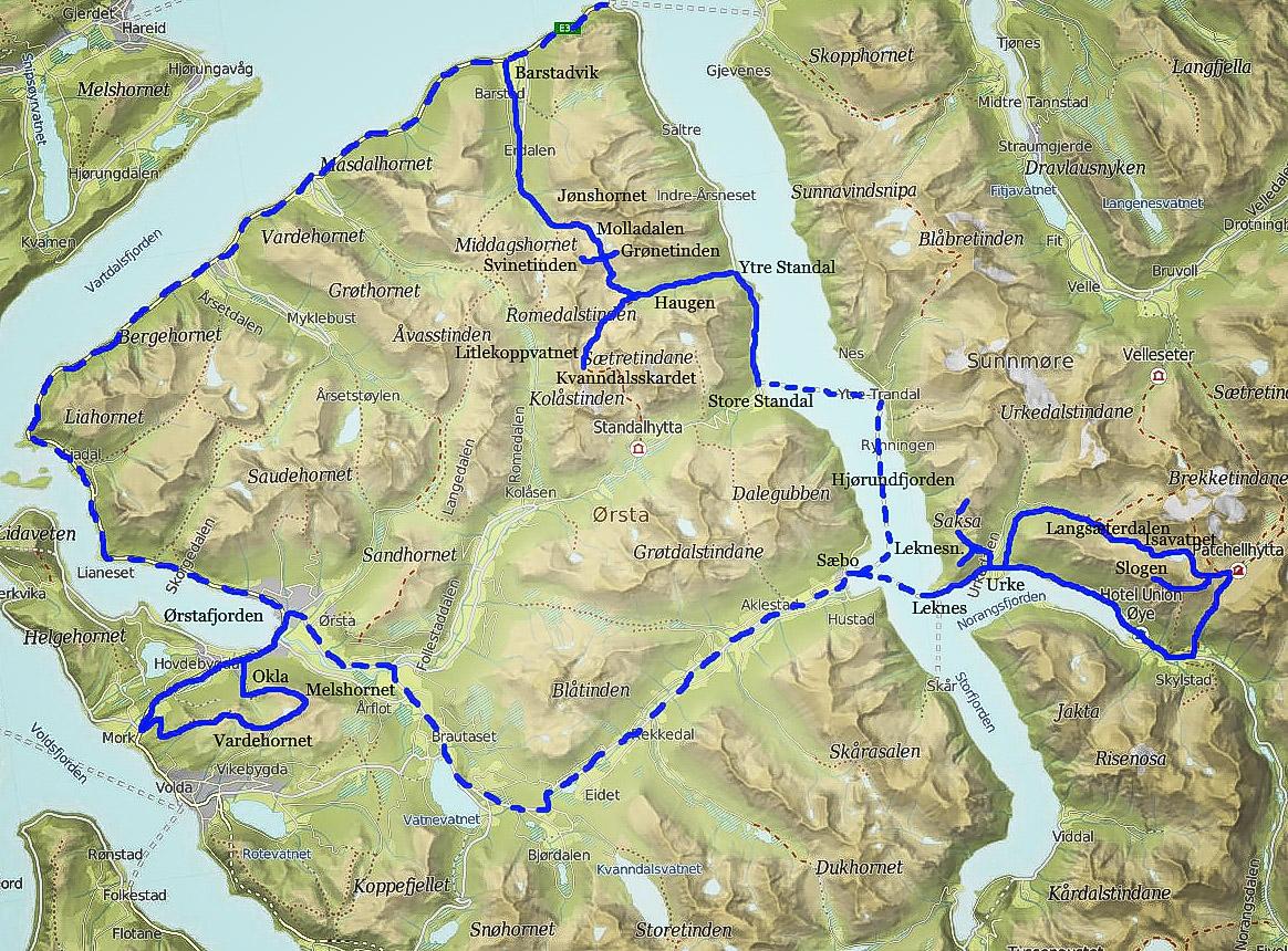 Hjorundfjord Map
