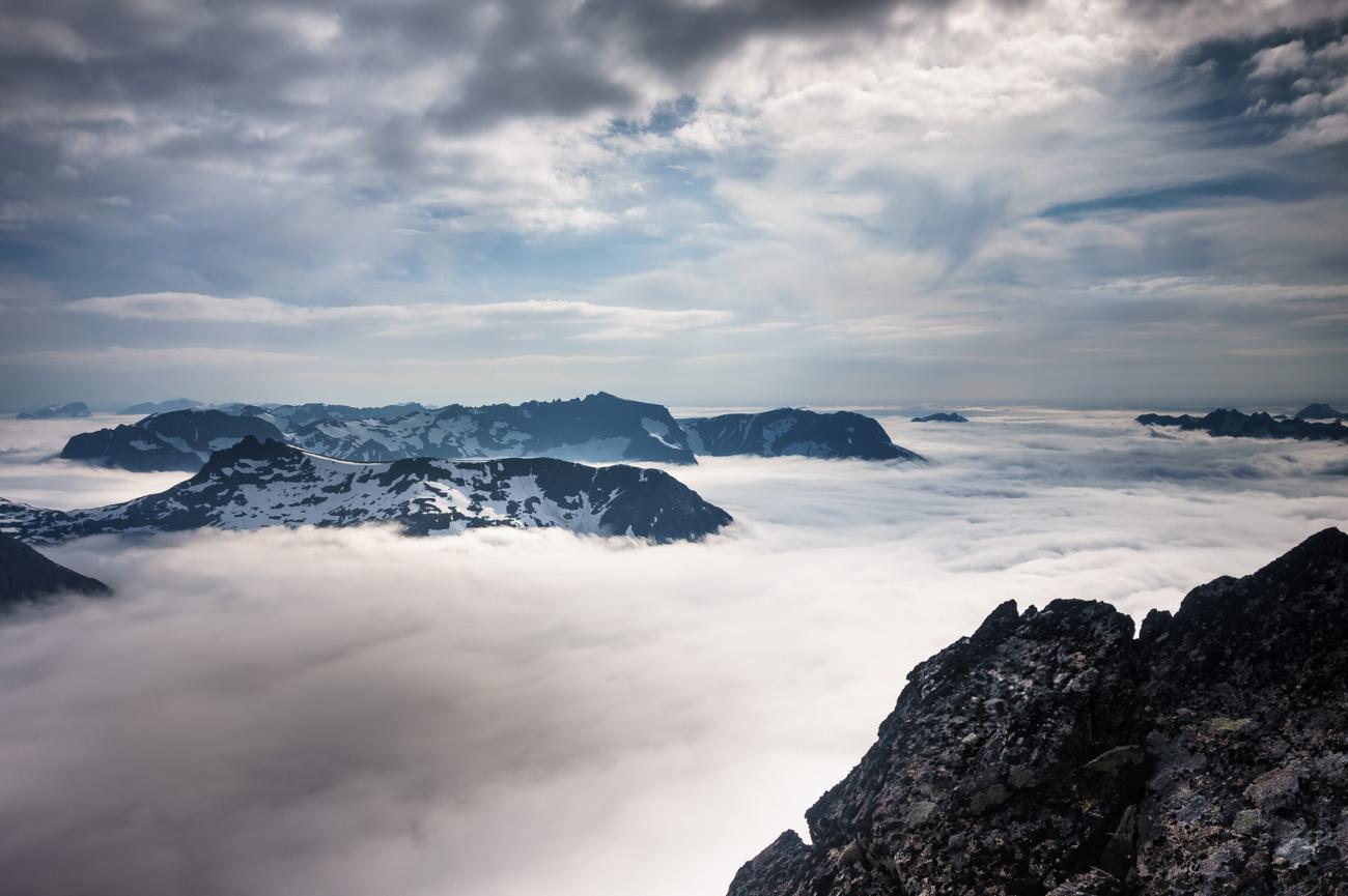 Erinnerungsfoto vom Gipfel