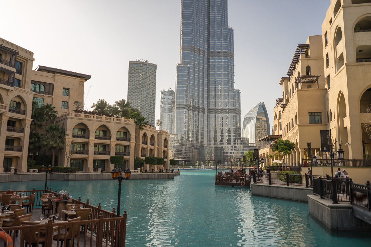 Das Gelände rund um den Burj Khalifa
