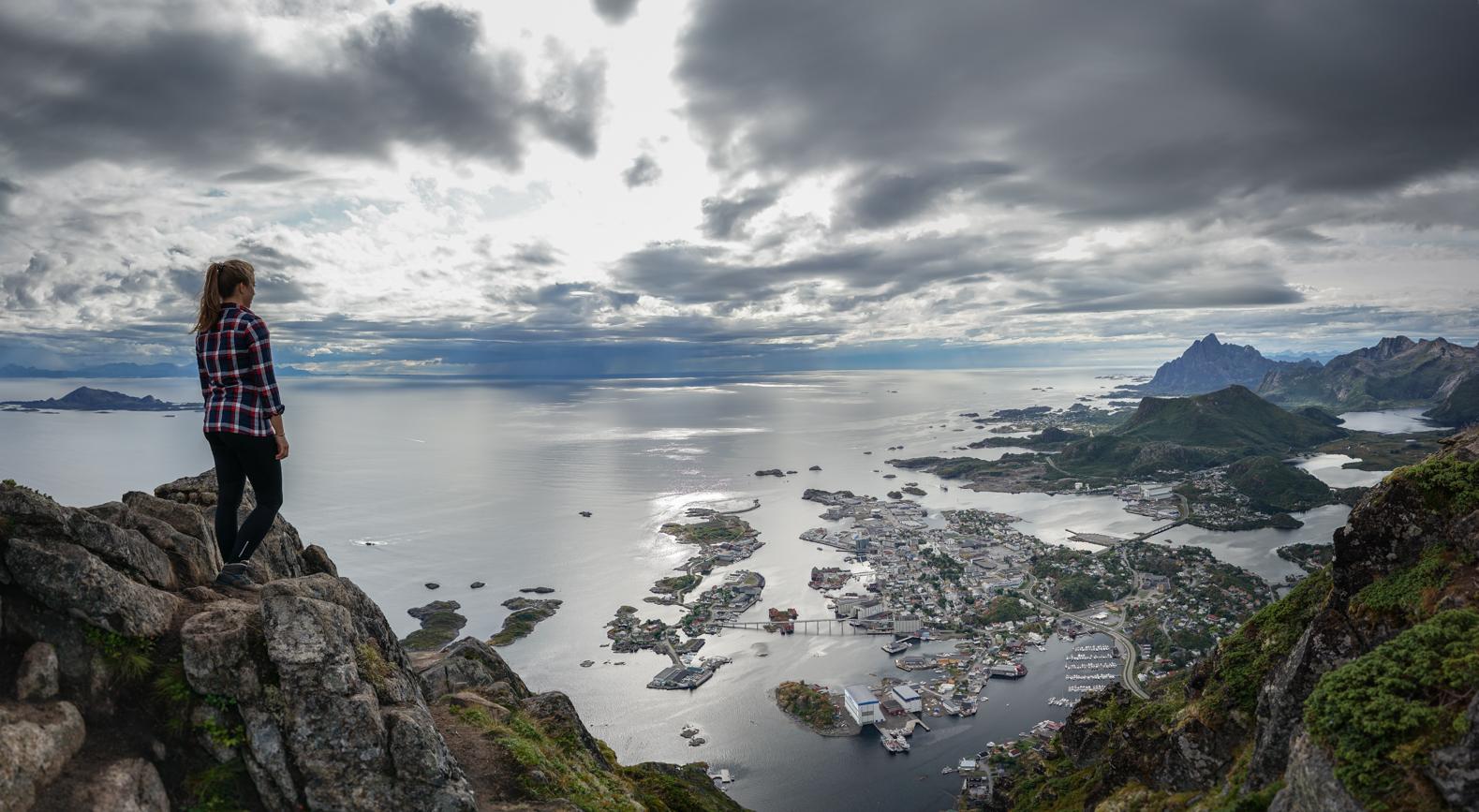 Aussicht vom Fløya, dem Hausberg Svolværs