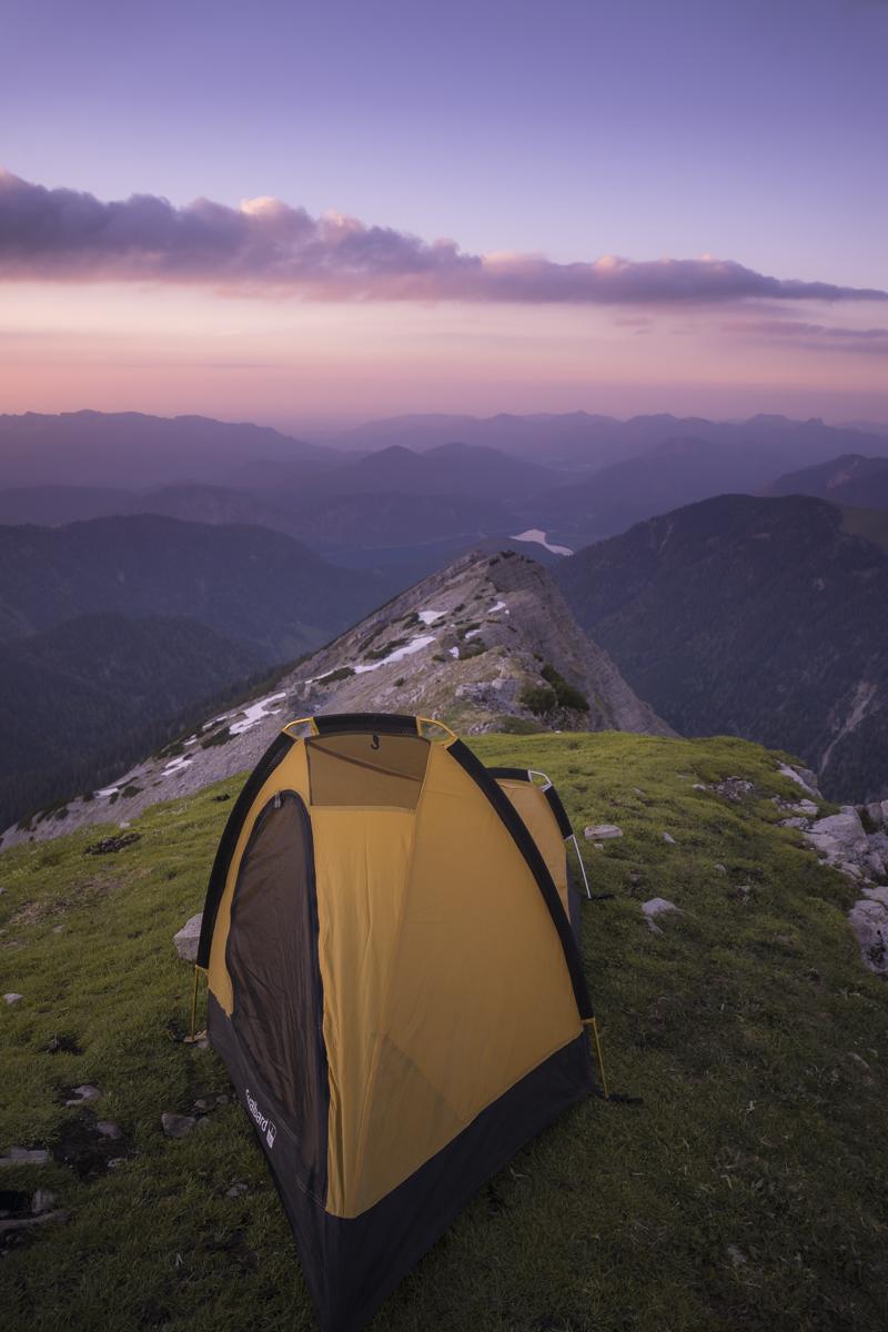Mein Camp zur blauen Stunde