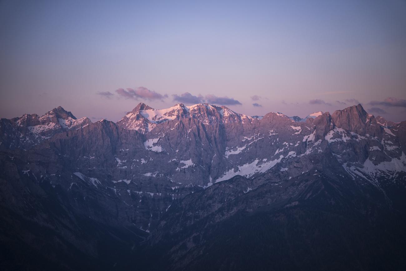 Für dieses Alpenglühen lohnen sich die Strapazen!