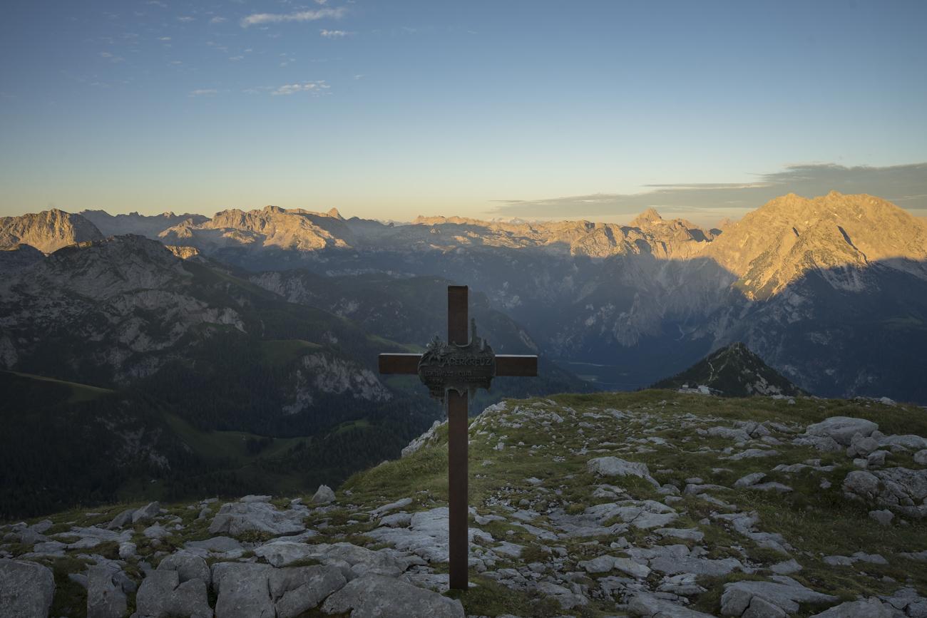 Am Jägerkreuz: Blick Richtung Brettgabel und Jenner