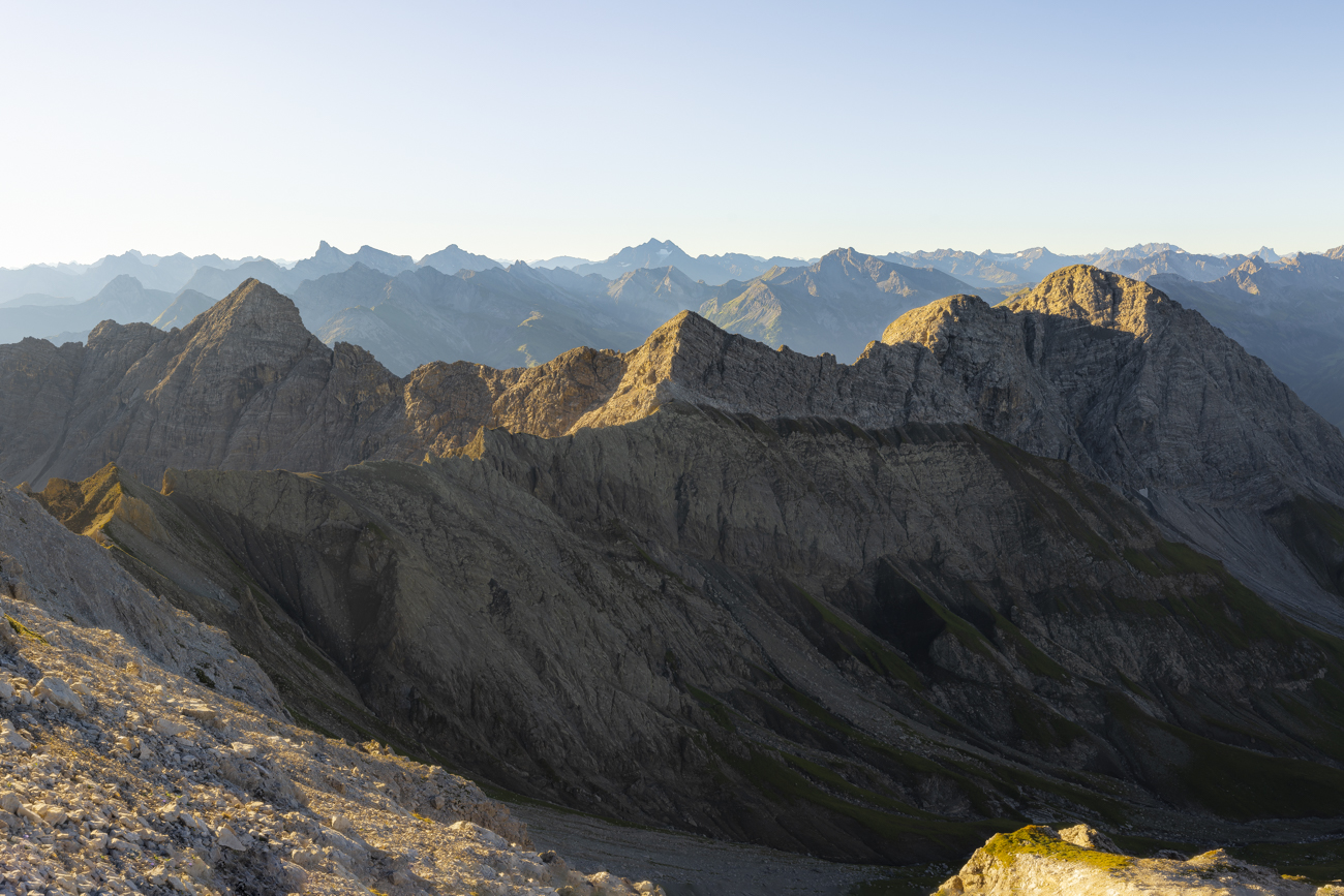 Panorama auf dem Weg zum Hohen Licht