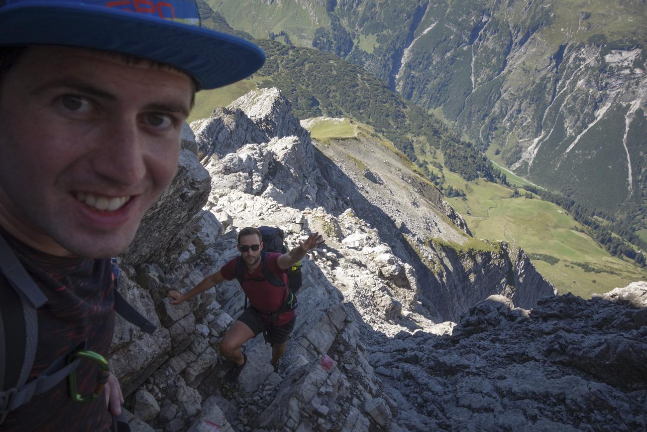 Genusskletterei pur im Gipfelbereich!