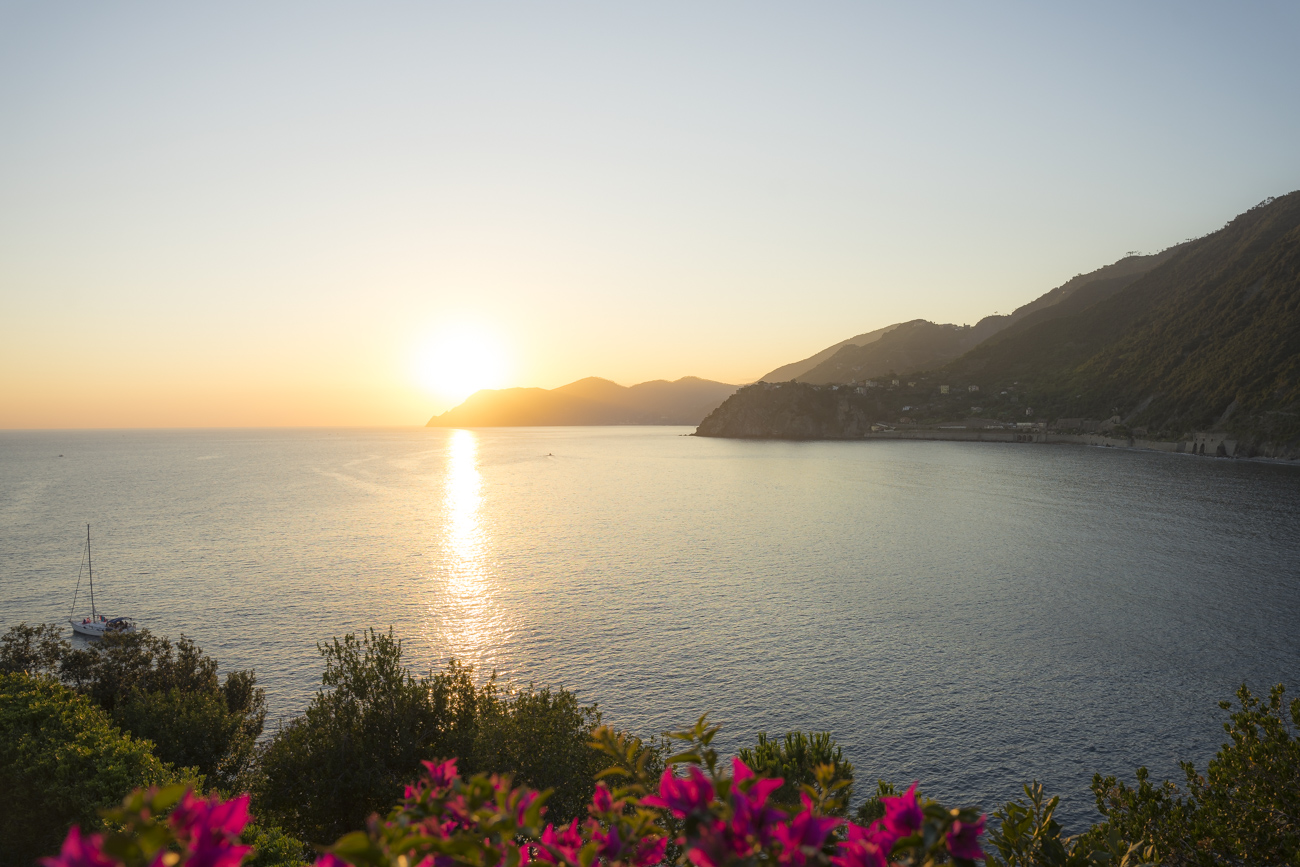 Sonnenuntergang im Nationalpark Cinque Terre