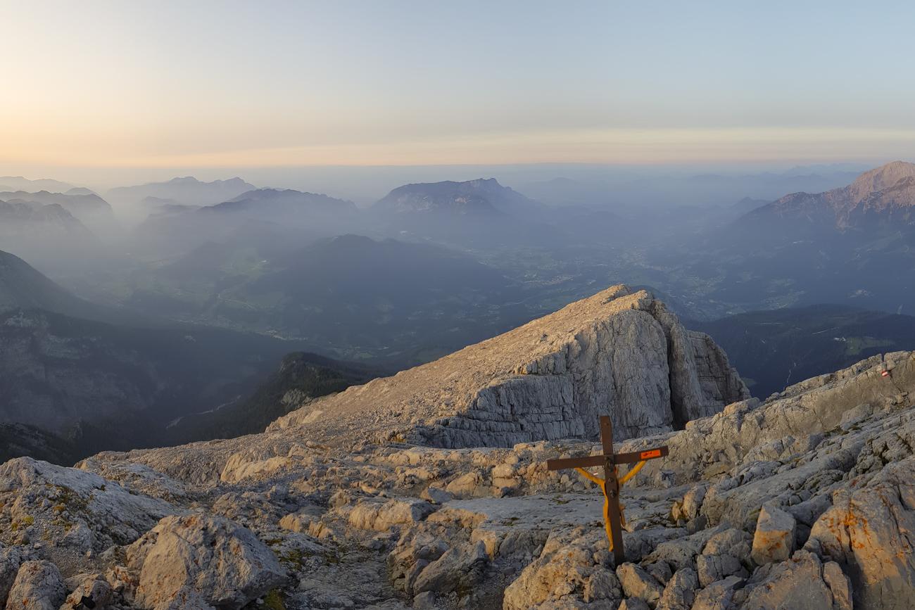 Panorama vom Gipfel des Watzmann-Hocheck
