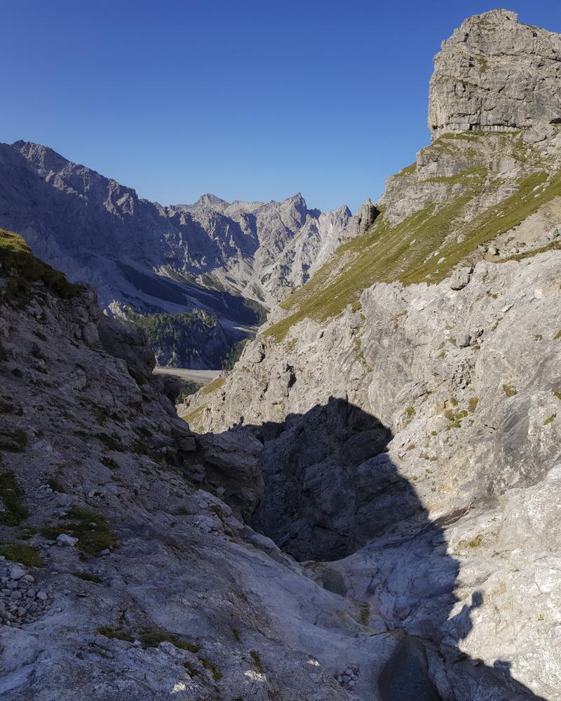 Das erste fließend Wasser auf etwa 1800 m