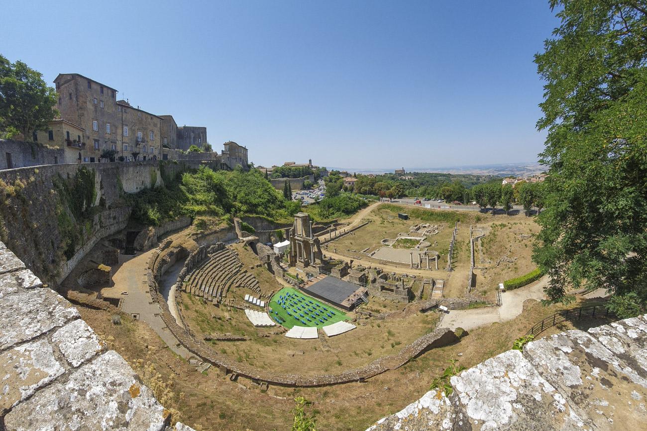 Die Ruinen von Volterra