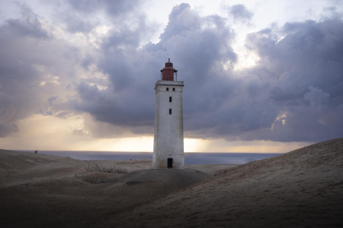 Der Leuchtturm auf der Wanderdüne Rubjerg Knude