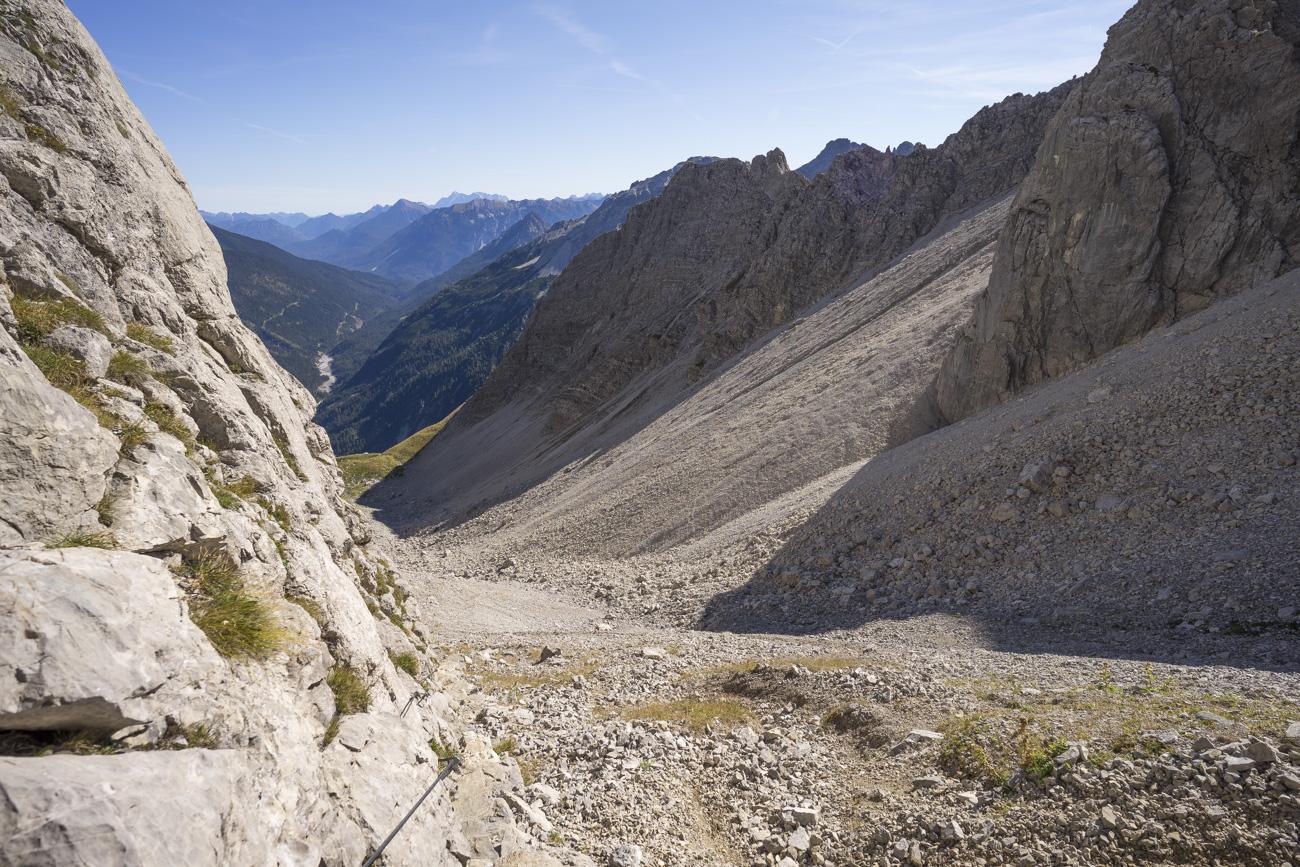 Im Aufstieg auf die Bockkarscharte (2164 m)