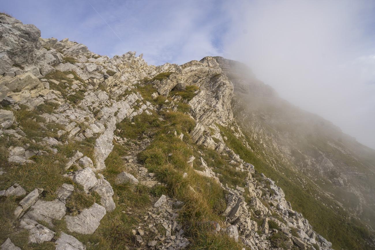 Die nordwestliche Aufstiegsvariante zum Kugelhorn (2126 m)