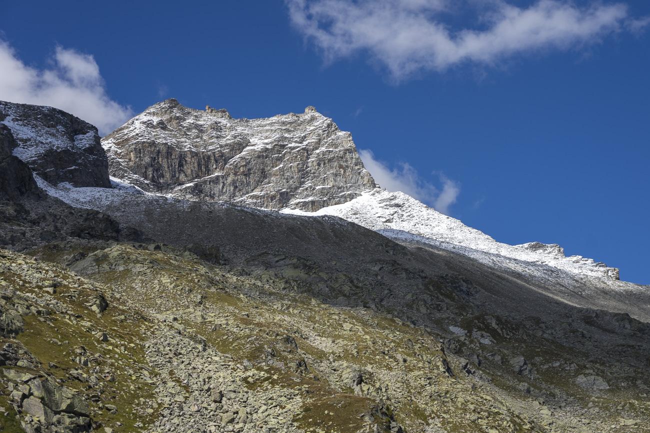 Der Gipfelaufbau des Olperer