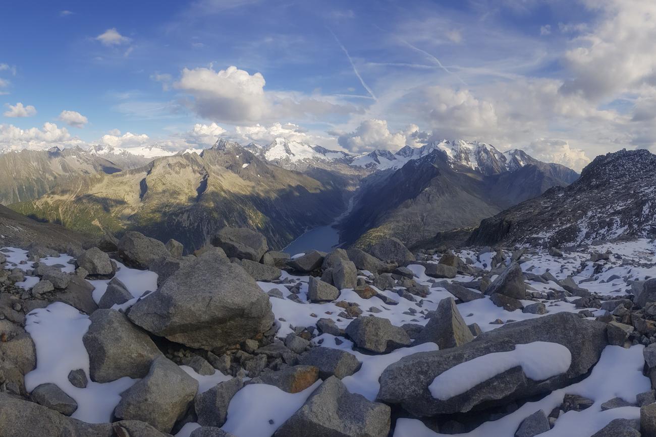 Panorama knapp unterhalb des Riepenkopfs