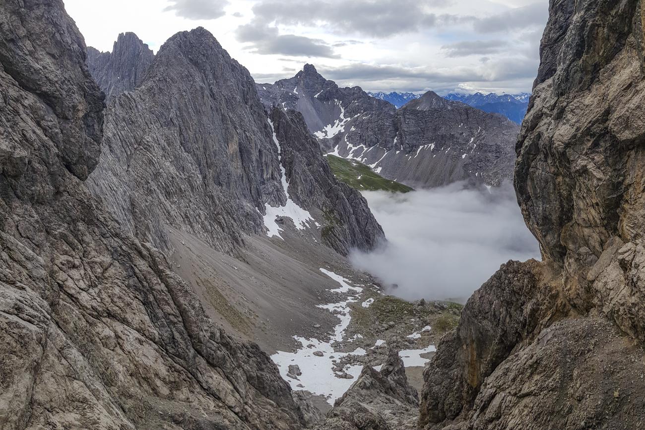 Blick zurück zum Steinseeplateau