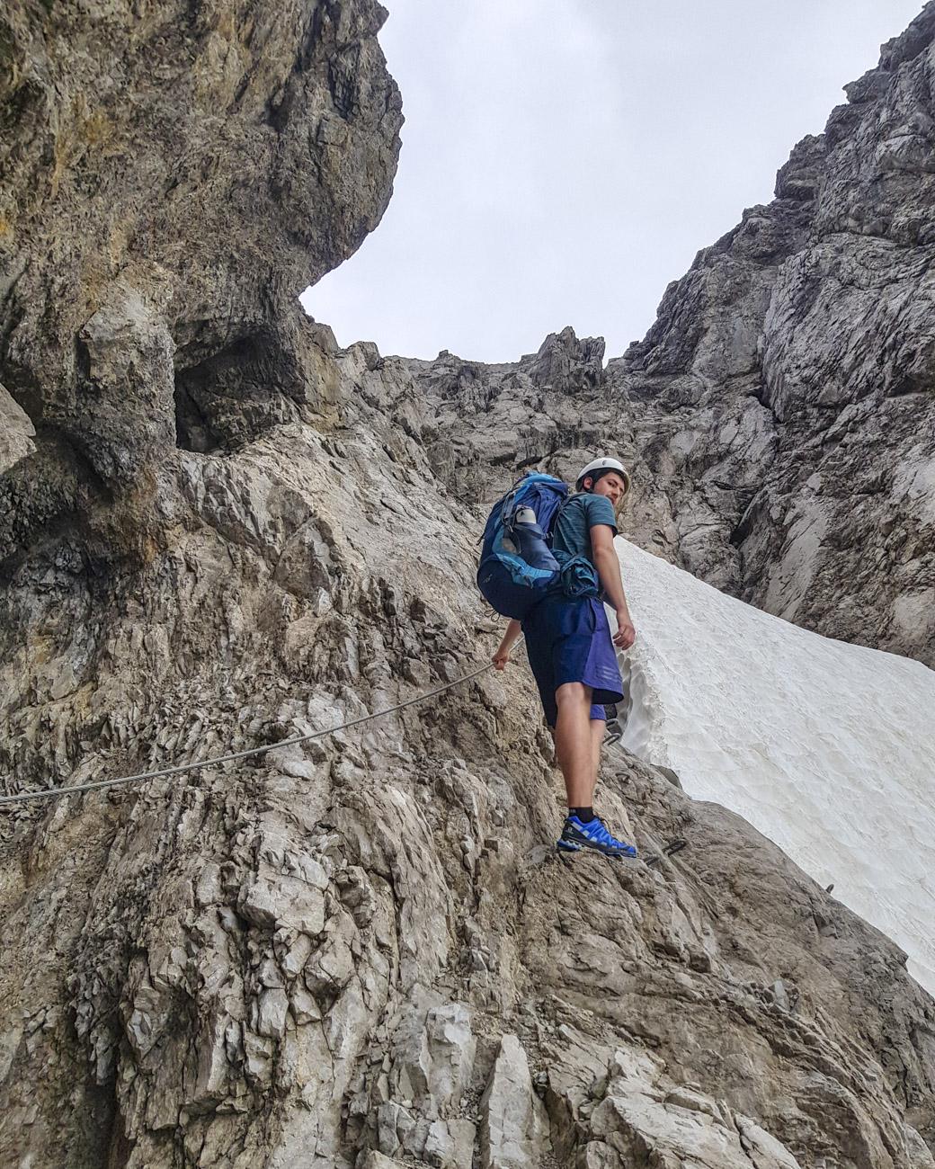 ...im leichteren der beiden Klettersteige