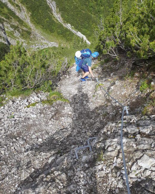 Abstieg hinunter zum Otterbach